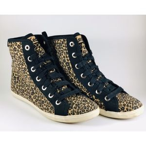 🐆SO CUTE!  Keds Floral Leopard/Cheetah Hi Top Y 7